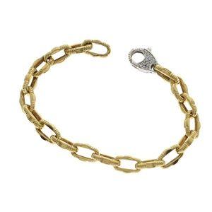 Roberto Coin 18K Gold Diamond Ruby Link Bracelet